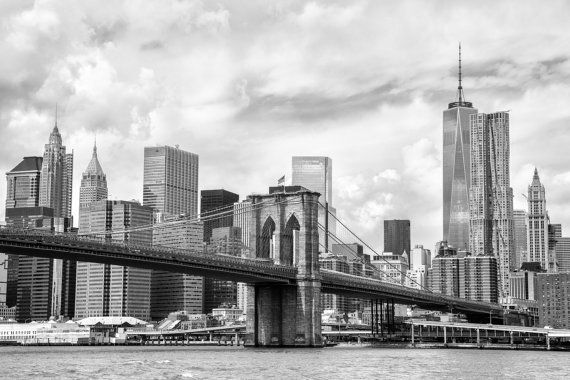 USA, New York photography, Brooklyn Bridge, Manhattan, USA photography, large wall art print, professional photo, fine art, skyscraper #032