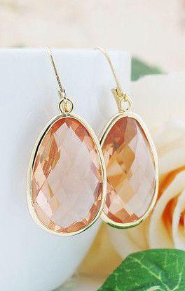 Large Glass Drop Earrings