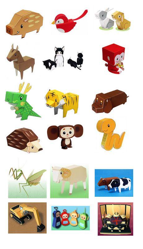 CASITA DE PAPEL: animales
