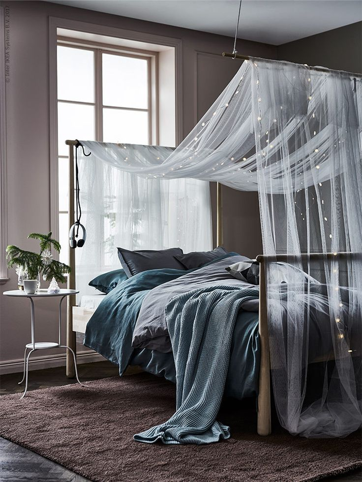 IKEA bedroom with canopy