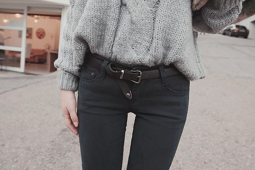 A belt can class things up fast! Even if the belt doesn't fit you properly slip it under and give it a bit of a more casual look all together!