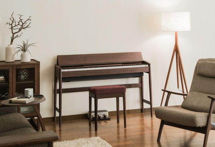 Kiyola: デジタルピアノ - 日本の職人の技、天然木を活かしたこだわりの家具調デザインと最新のデジタルピアノの融合。インテリアに溶け込む新しいピアノの形。