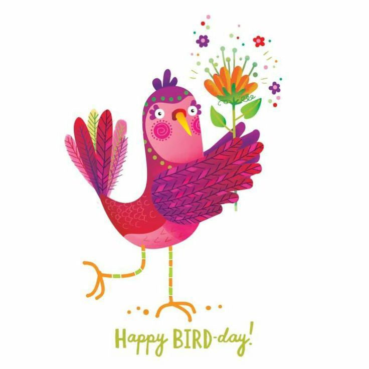 Открытка своими, картинки с днем рождения птичка моя