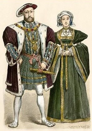 A drawing of Anne of Cleves alongside her famous ex! ;)