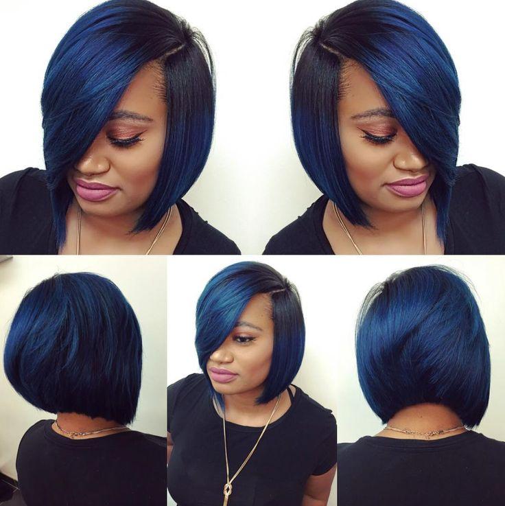 blue black hair african american wwwpixsharkcom