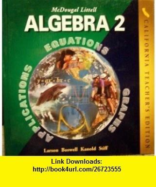 Algebra 2 textbook mcdougal littell online