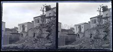 Thessalonique église en ruine Grèce Greece Plaque stéréo NEGATIF
