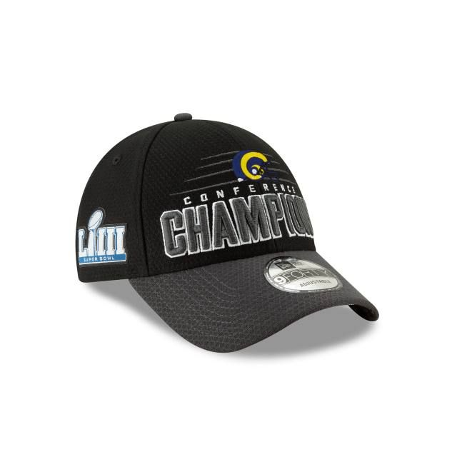 Los Angeles Rams Navy New Era Super Bowl LIII 53 Side Patch 9Fifty snapback Hat