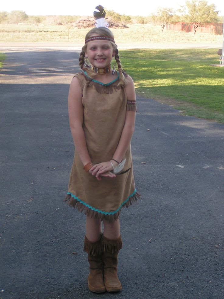 Homemade indian princess costume.