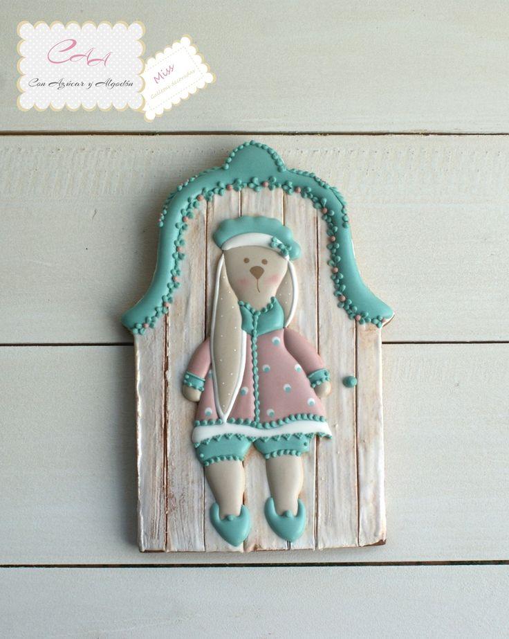 Galletas decoradas, conejita