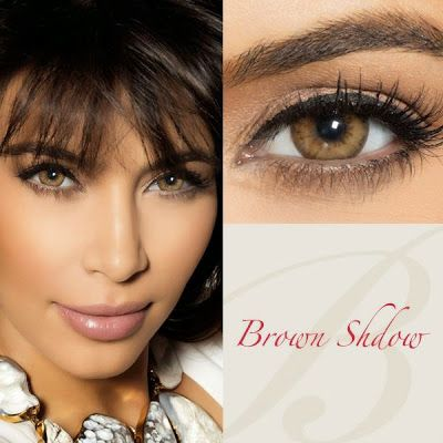 Bella Contact Lenses: Brown Shadow - New!