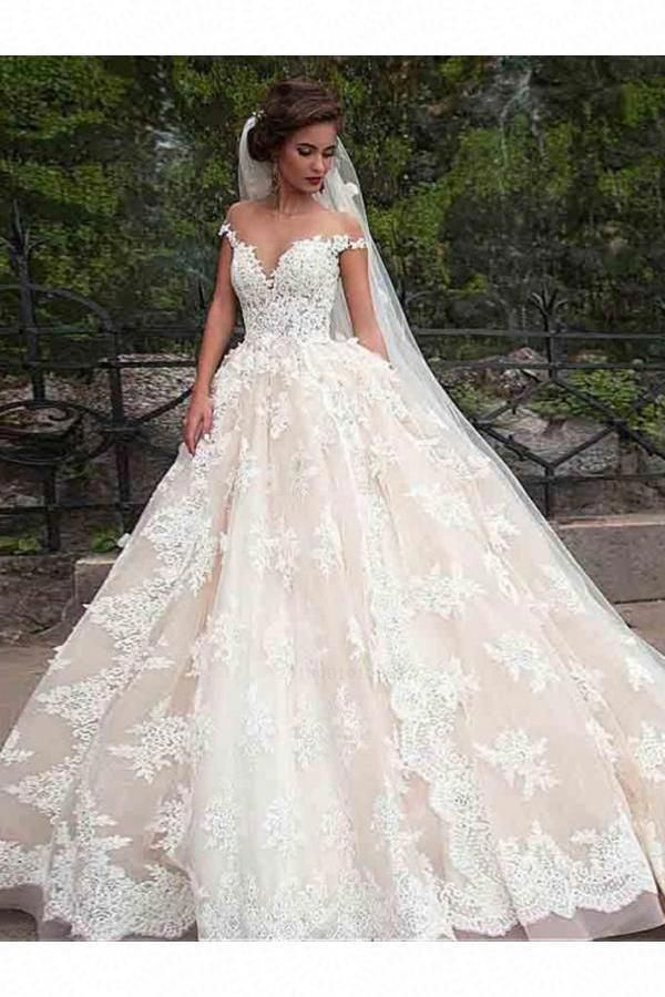 Wedding Dress Ball Gown Short Sleeve Wedding Dress Wedding Dress Lace Wedding Dress Vintag Disney Wedding Dresses Ball Gown Wedding Dress Wedding Dresses Uk