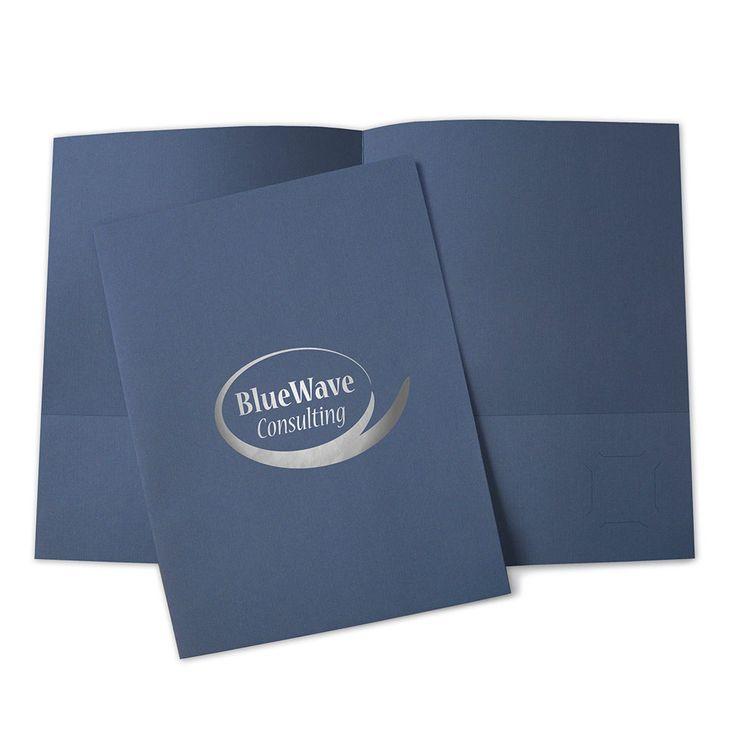 "1-Foil Imprinted 9"" x 12"" Standard Pocket Folder, Custom Presentation Folders   Easy Pocket Folders"