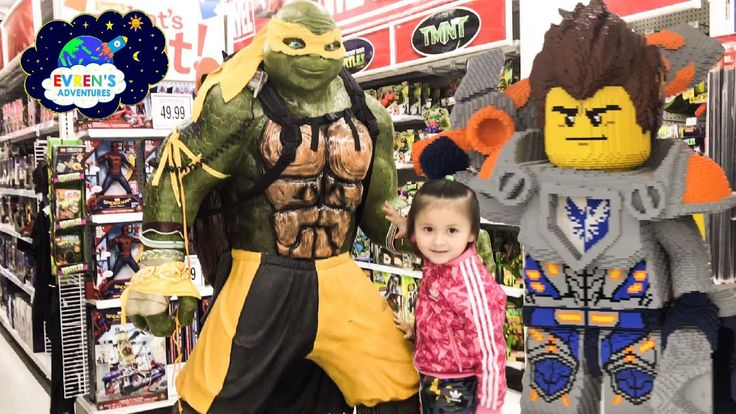 TOYS HUNT! Toys R Us Shopping Trip with Evren Disney Cars 3 Lego Minions Toy Cars Kid Fun ToysReview. This toy store has a giant life size TMNT Superhero and Nexo Knights Lego. These giant toys looks so real! Evren also found lots of awesome and cool toys include toy cars like Disney Pixar Car 3, Hot Wheels, Minions, Transformers, Lego, TMNT, Marvel Spiderman and more! There's also cool power wheels ride on cars for kids, bike ride, little tikes cozy truck, cozy coupe and more!