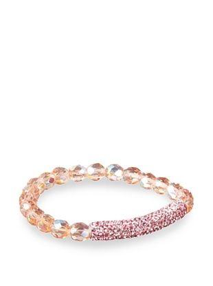 Frida Girl Pink Crystal Stretch Bracelet