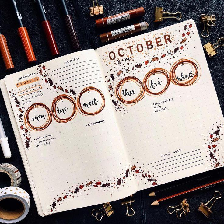 Bullet Journal wöchentliches Layout Schauen Sie sich Ashley Taylor.journal an #bujojunkies #bujo    Bullet journal
