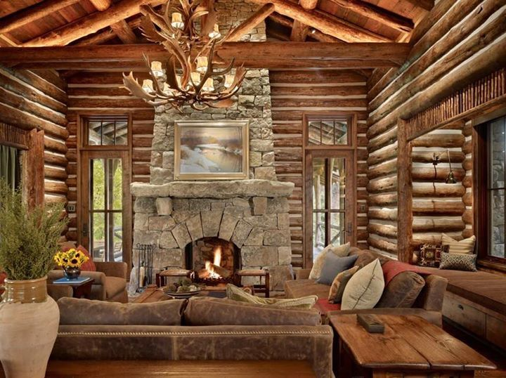 Happy Monday from the cozy rustic cabin of my dreams!