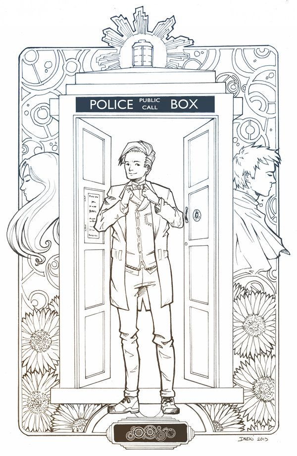 ''Regenerate me'' by Dreki-K (deviantART) --  printable colouring pages.  (Doctor Who - BBC Series) source: http://dreki-k.deviantart.com/art/Regenerate-me-354429911