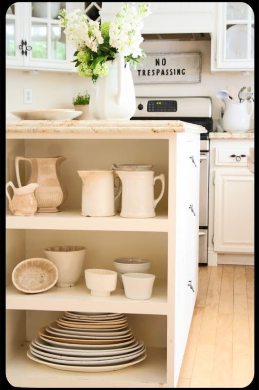 cottage kitchen storage. The Old Painted Cottage