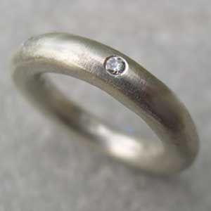 Designer Diamond Ring White Gold