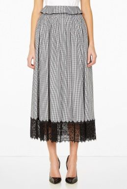 Margot Pleated Skirt With Top Frill by Meadham Kirchhoff