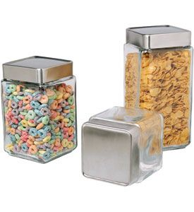 These Stackable Glass Kitchen Canisters Are Excellent Food Storage  Containers For Storing Dry Goods Like Beans