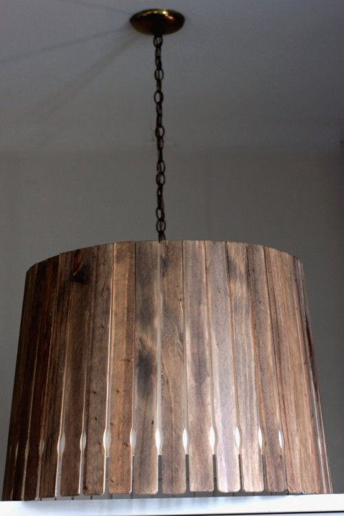 Amazing paint stick pendant light.