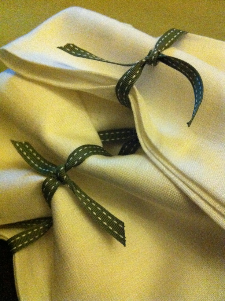 linen napkins from turner & lane with lisa's favourite ribbon