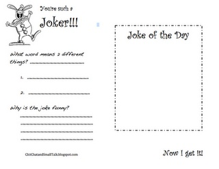 Joke of the Day Activity Download -  Pinned by @PediaStaff – Please Visit http://ht.ly/63sNt for all our pediatric therapy pins