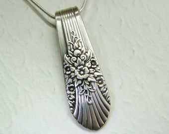 Antique Spoon Necklace Hanover 1901 Art by SpoonfestJewelry