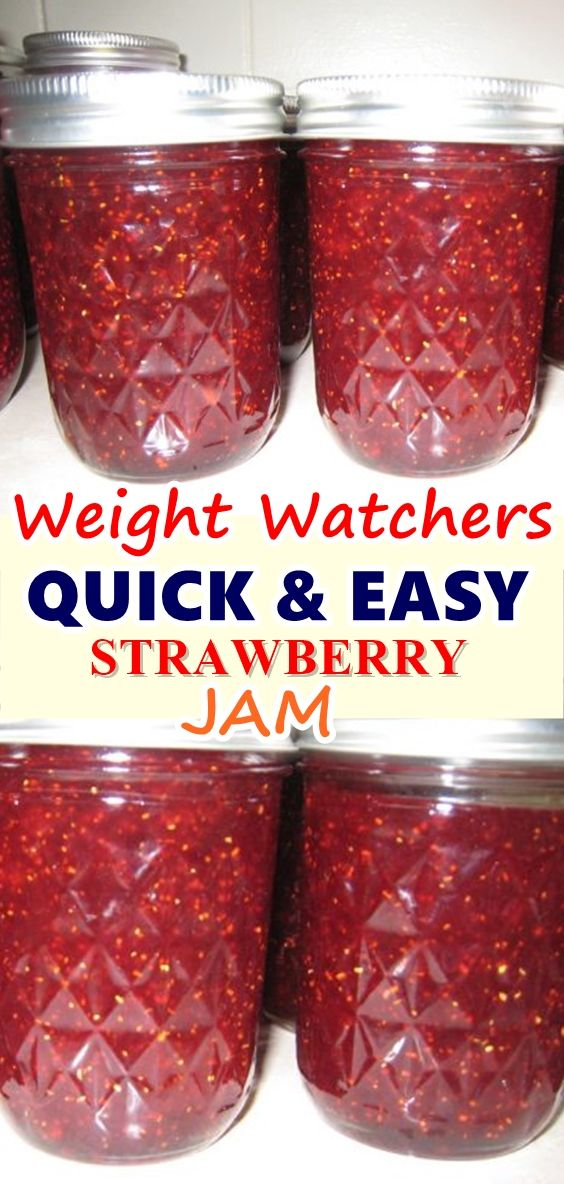 QUICK & EASY STRAWBERRY JAM – Weight Watchers Recipes