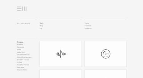 Super clean minimal design