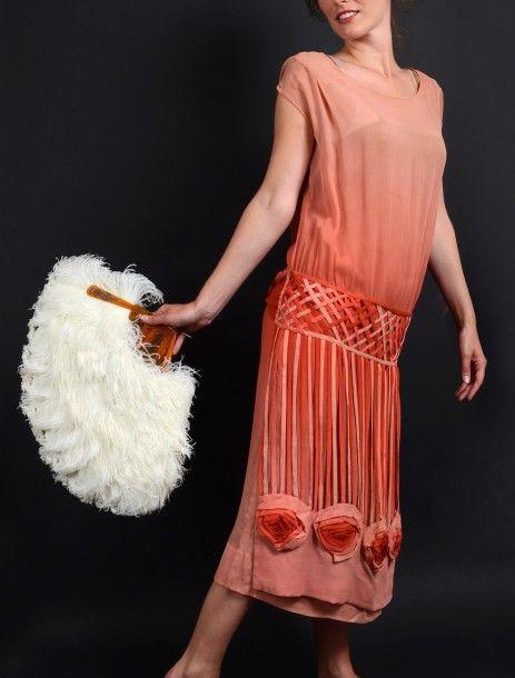 1920-1925 M. Vionnet Evening Dress