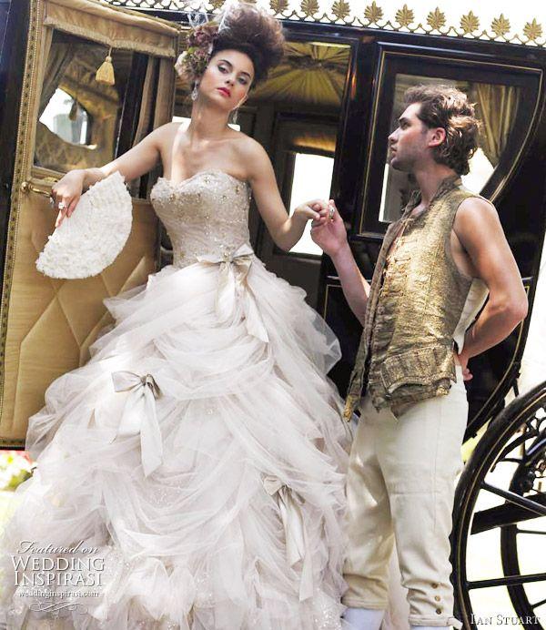 Ian Stuart's Marie Antoinette-inspired Bridal photo shoot