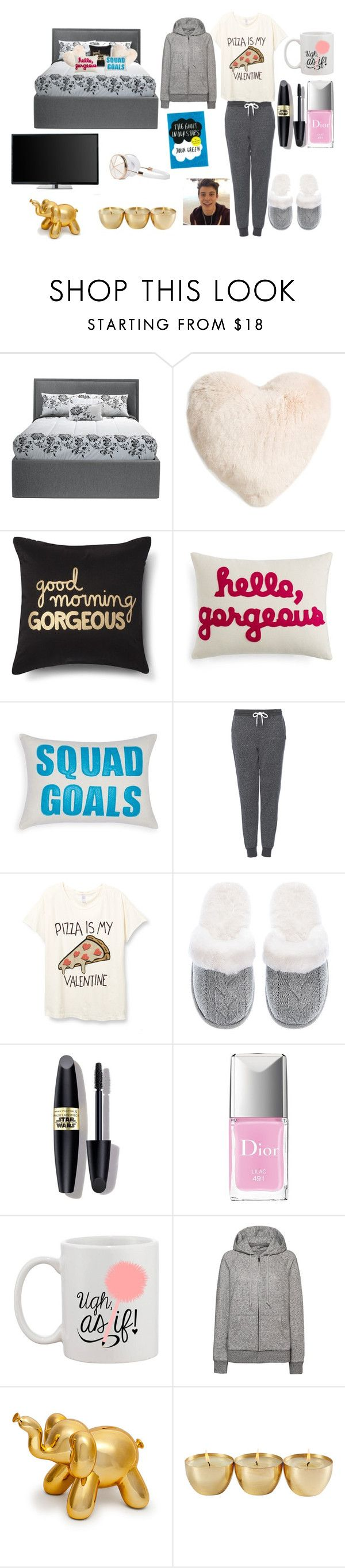 """""""Valentines Day outfit because im a single pringle, but listening to Shawn Mendes makes my day every day❤️"""" by kari-luvs-u-2 ❤ liked on Polyvore featuring Nordstrom, Xhilaration, Alexandra Ferguson, Topshop, Victoria's Secret, Max Factor, Christian Dior, Uniqlo, Frends and women's clothing"""