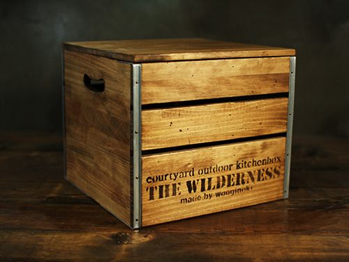 #box #campboxcube #vintagebox #woodencubebox #campingbox #wooginoki #wood #handmade #outdoor #woodencampbox