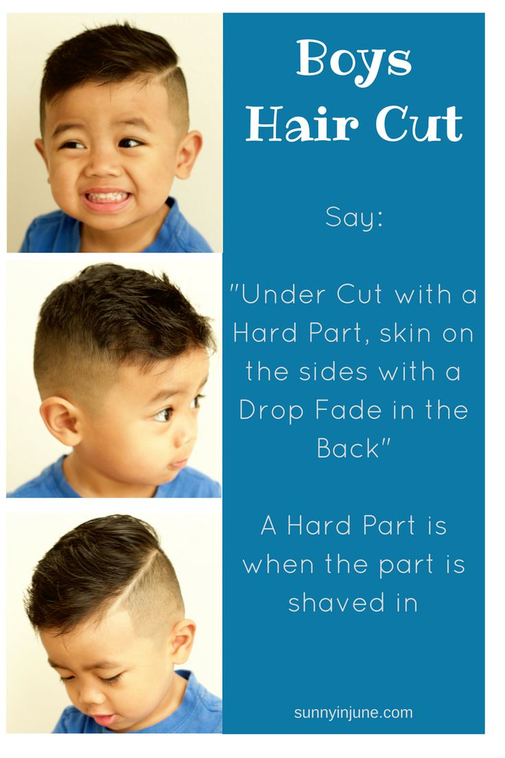 Undercut with a hard part, skin on the sides, with a drop fade in the back