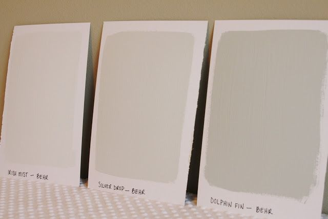 Irish Mist Silver Drop And Dolphin Fin From Behr Paint