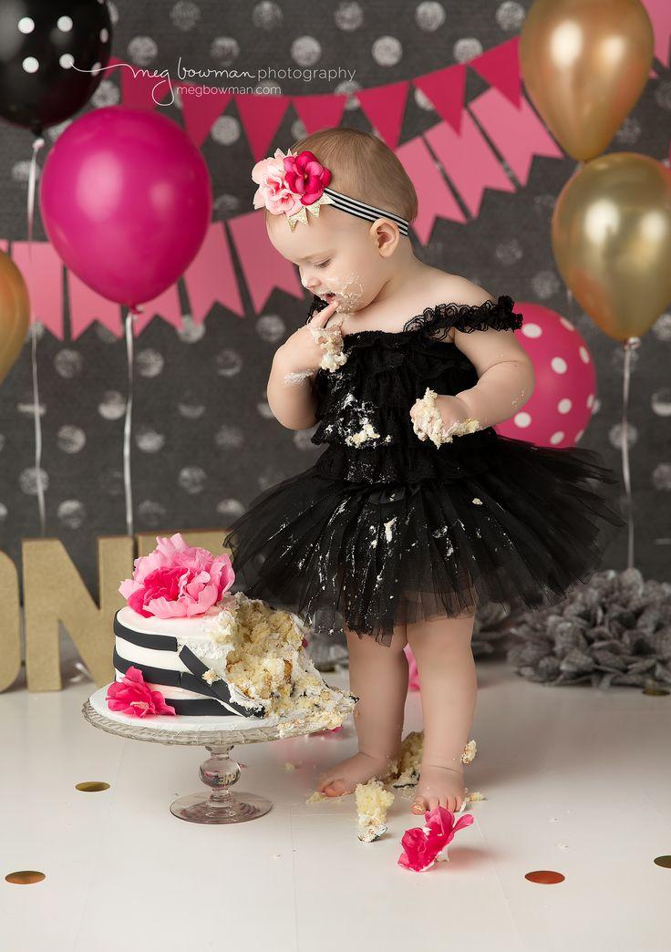 Gold, Pink,& Black Smash Cake | Wooster, Cleveland, and medina Ohio baby…