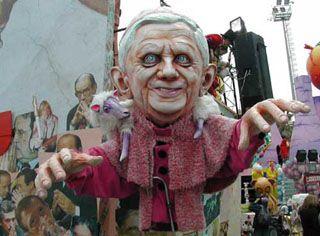 Carnevale in Viareggio 2012--The Pope