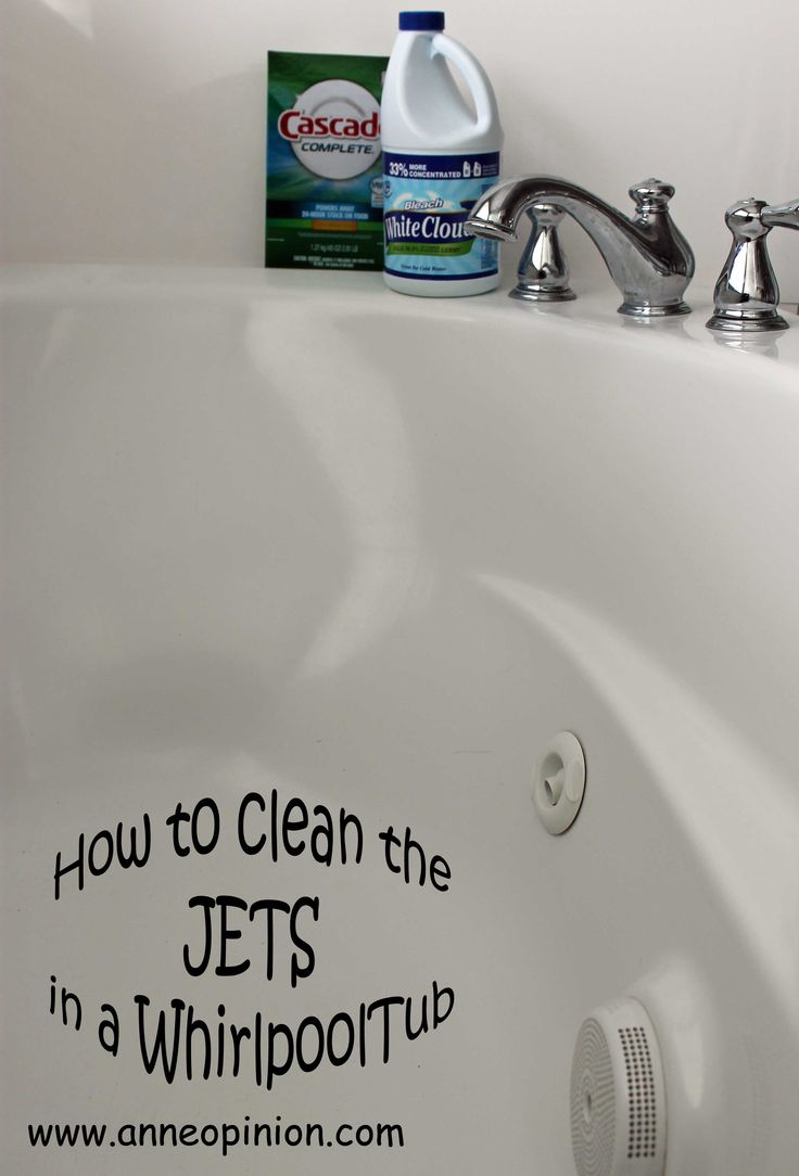 How to Clean the Jets in a Whirlpool Tub