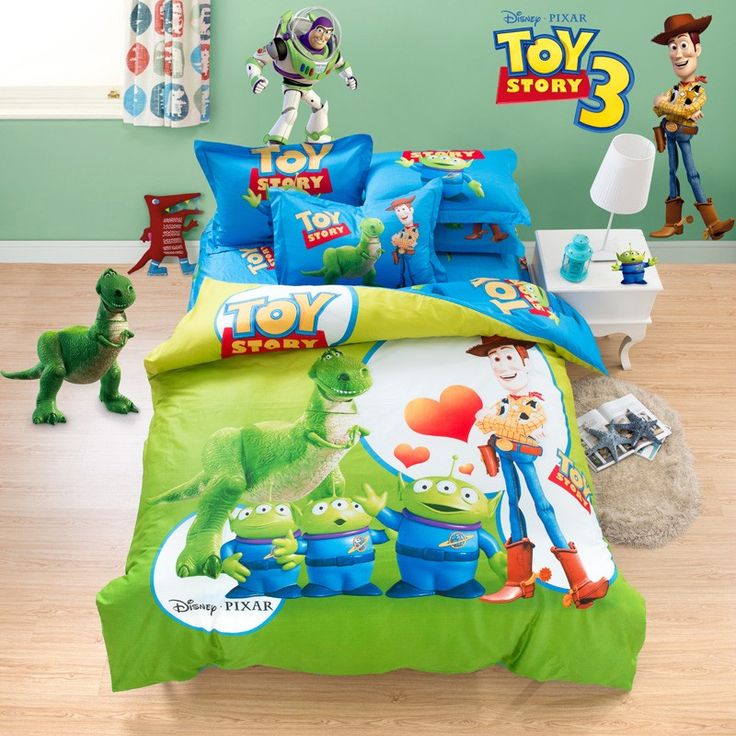 Toy Story Green and Blue Kids Bedding  Sets