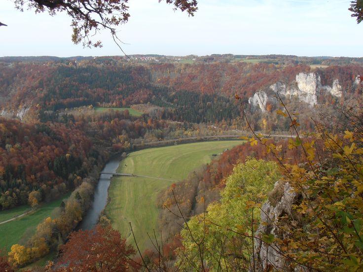 Naturpark Oberes Donautal, Blick von Burg Wildenstein, Oktober 2013