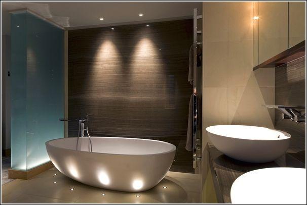 contemporary bathroom lighting fixtures brushed nickel Bathroom