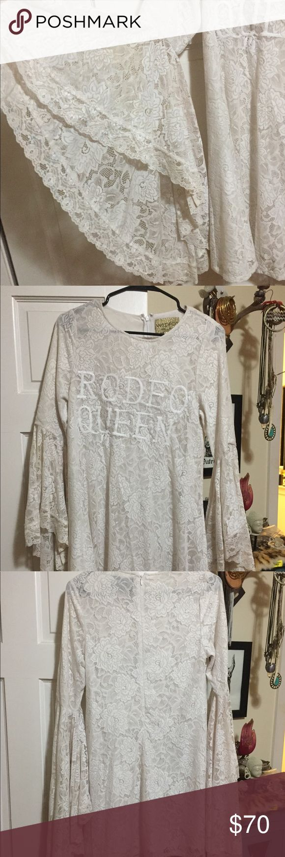 Wild fox white label rodeo queen dress Gorgeous! Worn once great condition! Wildfox Dresses Midi