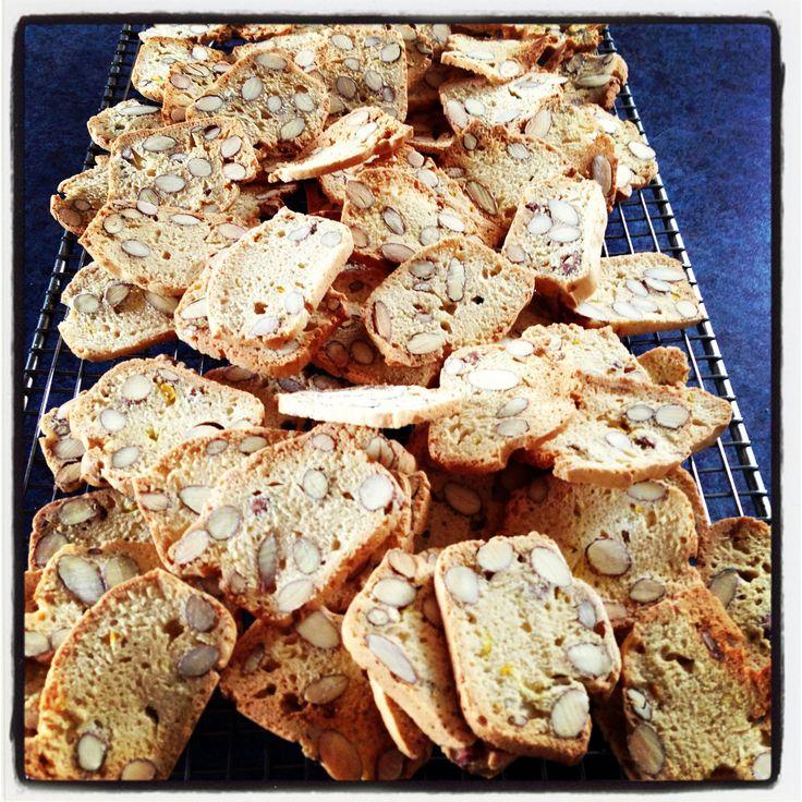 "Italian Almond Biscotti ~ via this blog, ""Chef Adam Massimo""."