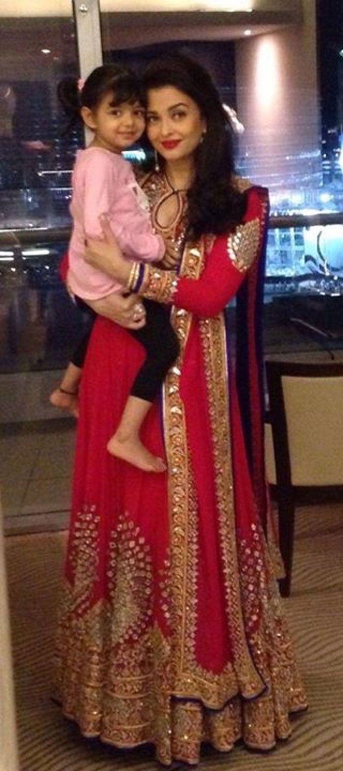 Aishwarya Rai Bachchan and birthday girl Aaradhya were in Dubai to celebrate Aaradhya's 3rd birthday.