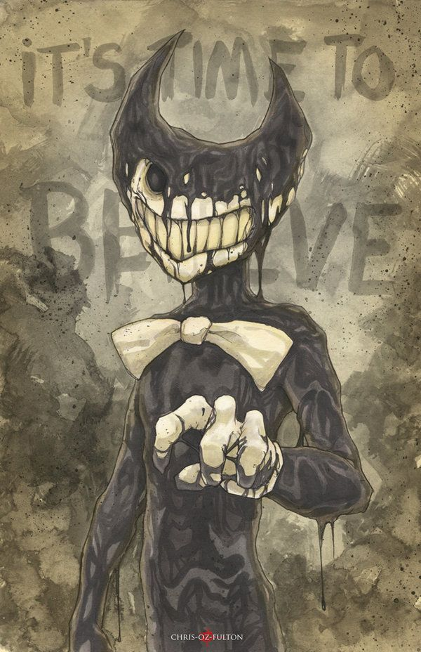 Bendy And The Ink Machine Demon By Chrisozfulton Deviantart Com On Deviantart Bendy And The Ink Machine Alice Angel Art