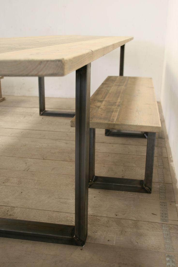 Meer dan 1000 idee n over ijzeren tafel op pinterest for Tafel van steigerplanken