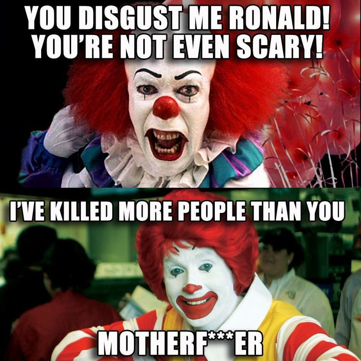Ronald McDonald McDonalds scary clown meme
